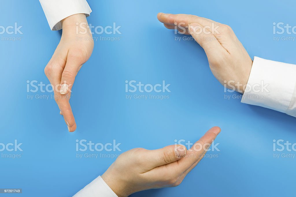 Conceptual circle stock photo