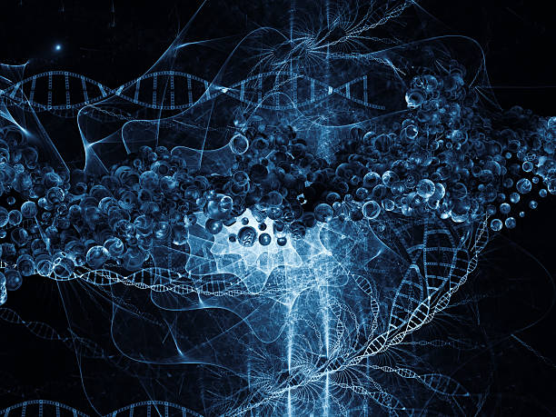 conceptual dna - elementary particle stock photos and pictures