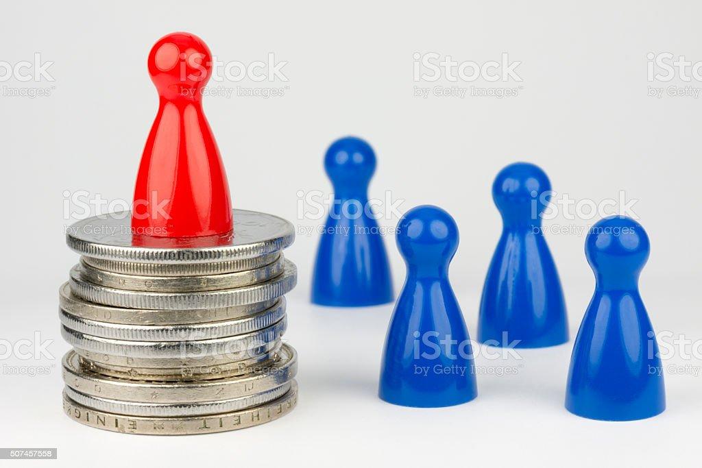 Konzeptionelle finanziellen Stellung. – Foto