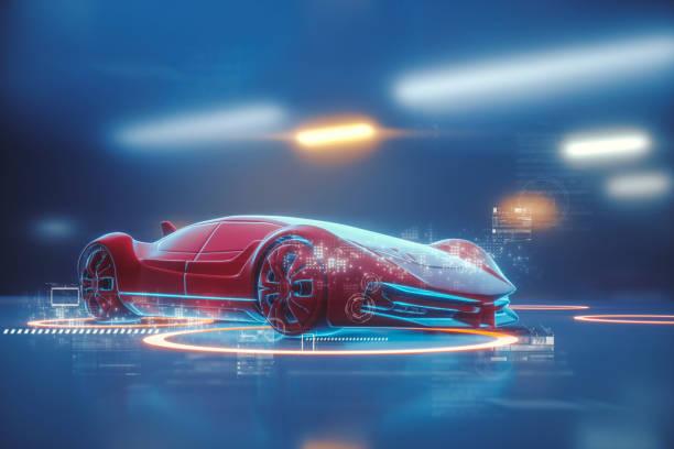 Konzeptionelle generische futuristischen Sportwagen – Foto