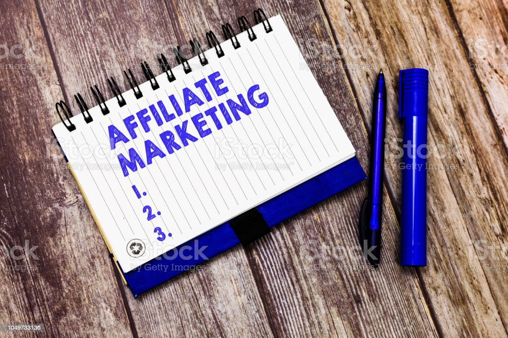 Conceptual hand writing showing Affiliate Marketing. Business photo text Promoting another demonstratings product Earning a Commission stock photo