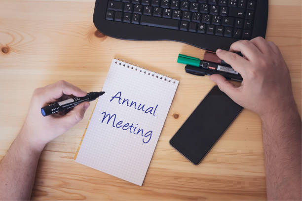 Conceptual hand writing showing Annual Meeting Conceptual hand writing showing Annual Meeting annual event stock pictures, royalty-free photos & images