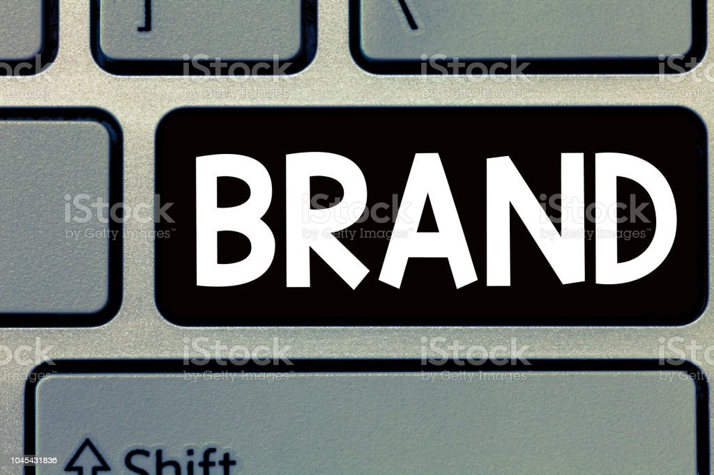 Conceptual hand writing showing Brand. Business photo text Type of product manufactured by a company under a particular name – zdjęcie
