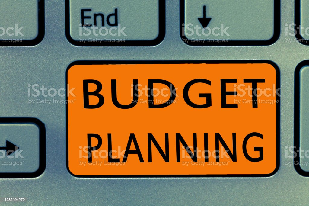Conceptual hand writing showing Budget Planning. Business photo text The written description about current and future expenses stock photo