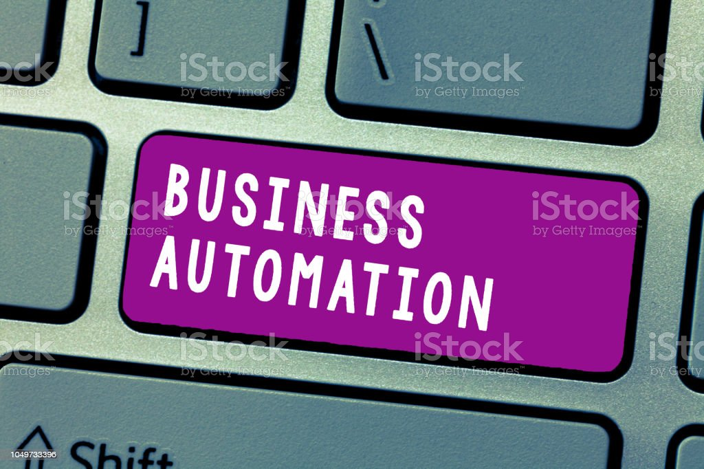 Conceptual hand writing showing Business Automation. Business photo text for Digital Transformation Streamlined for Simplicity stock photo