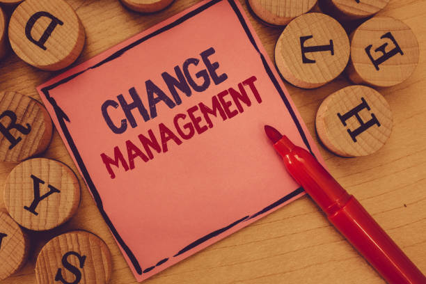 Conceptual hand writing showing Change Management. Business photo text Replacement of leadership in an organization New Policies stock photo