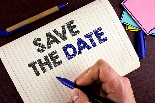 istock Conceptual hand writing showing Save The Date. Business photo showcasing Organizing events well make day special by event organizers written by Man on Notebook Book on wooden background Pen. 946567364