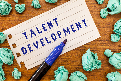 istock Conceptual hand writing showing Talent Development. Business photo showcasing Building Skills Abilities Improving Potential Leader 1049738708