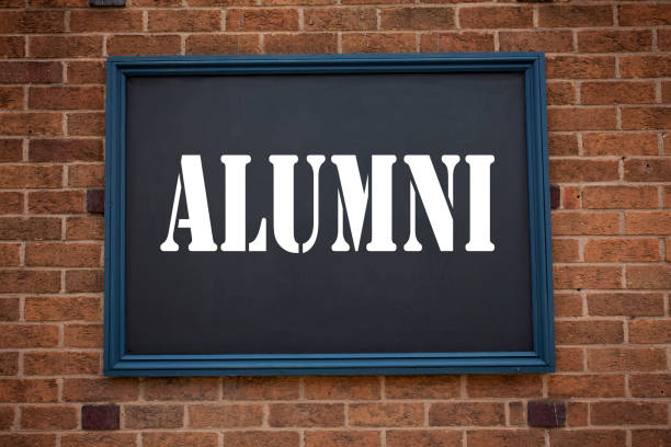 Conceptual hand writing text caption inspiration showing announcement Alumni Former Students. Business concept for  Celebration Education Ending written on frame old brick background with copy space Conceptual hand writing text caption inspiration showing announcement Alumni Former Students. Business concept for  Celebration Education Ending written on frame old brick background with space alumnus stock pictures, royalty-free photos & images
