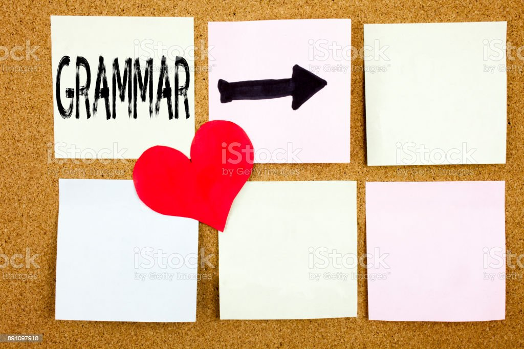 Conceptual hand writing text caption inspiration showing Grammar concept for  The Basic Rules of Syntax Grammatical Language and Love written on wooden background, reminder  background with copy space stock photo