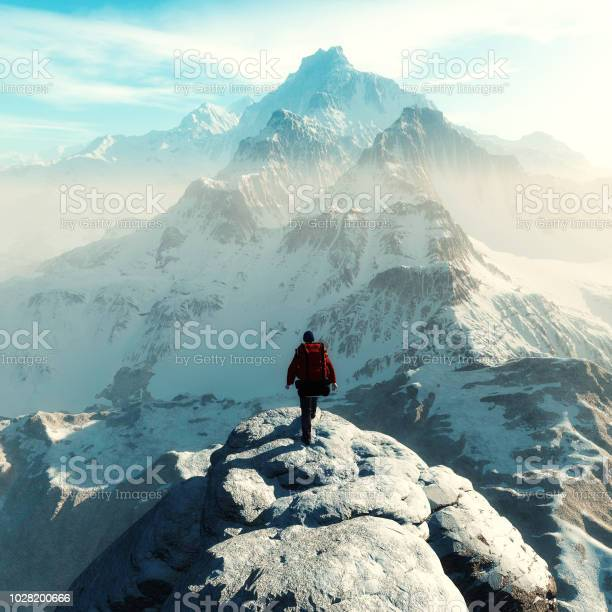 Conceptual image of a man hiker with backpack in front of a mountain picture id1028200666?b=1&k=6&m=1028200666&s=612x612&h=azajldxllz0q7jh1pna8swjurfgtghznqc1wxvejuz4=