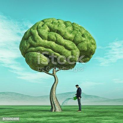 istock Conceptual image of a man 825550456