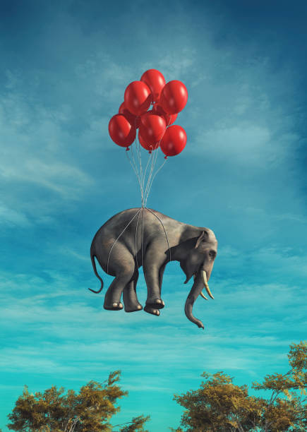 Conceptual image of an elephant stock photo