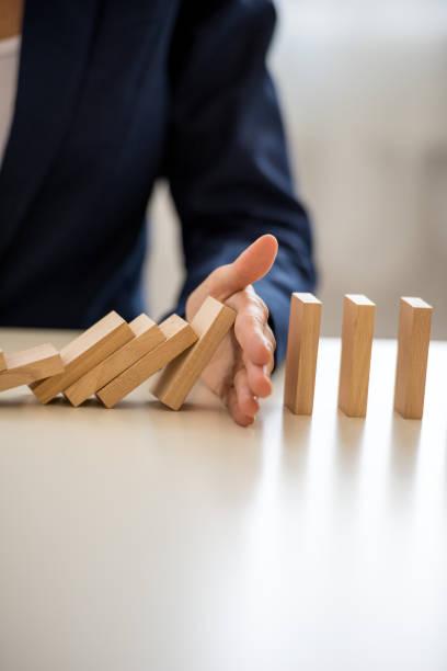 Konzeptbild der Prävention von Geschäftsdepressionen – Foto