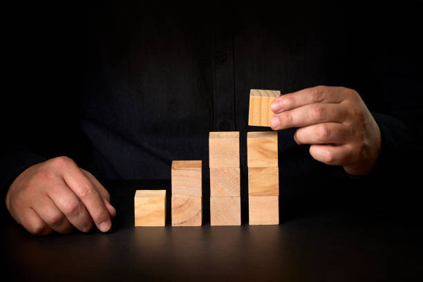 Conceptual image of business vision and start up. Conceptual image of business determination stock photo