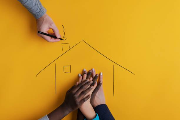 Konzeptbild von Familie und Adoption – Foto