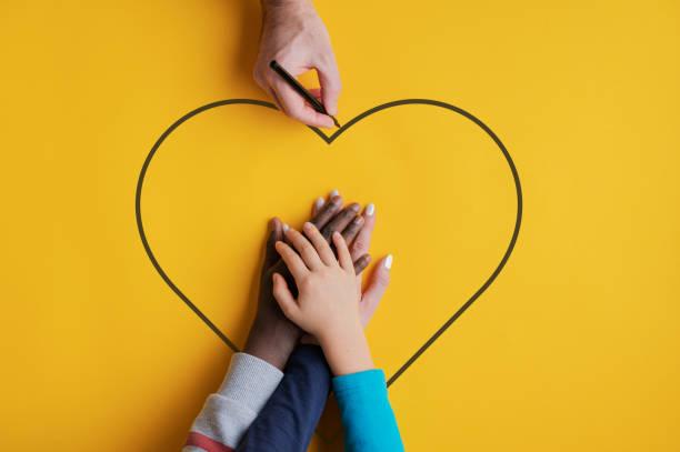 Konzeptuelles Bild von Familie und Einheit – Foto