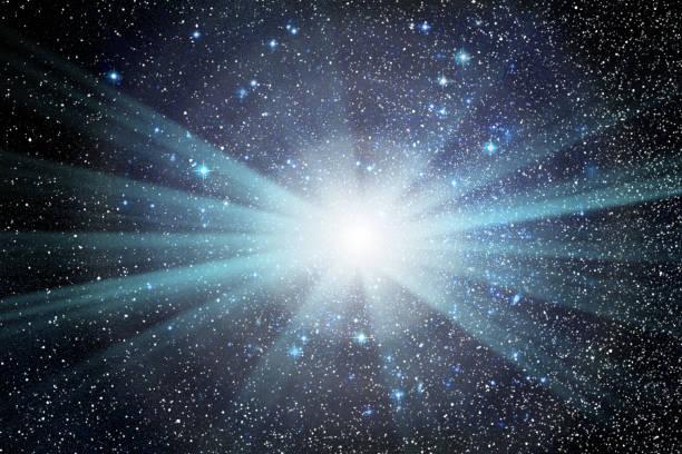 conceptual image of galaxy and stars - big bang foto e immagini stock