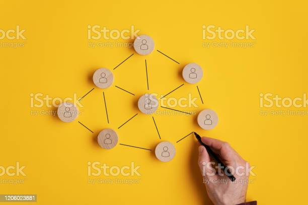 Conceptual Image Of Network Marketing Stock Photo - Download Image Now