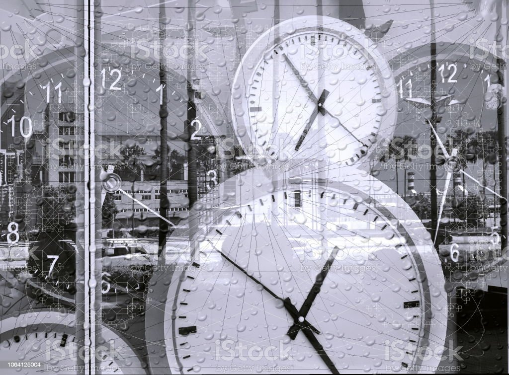 Conceptual Image of Time stock photo