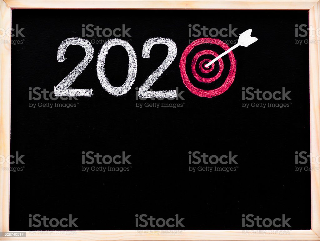 Conceptual image of Year 2020 stock photo