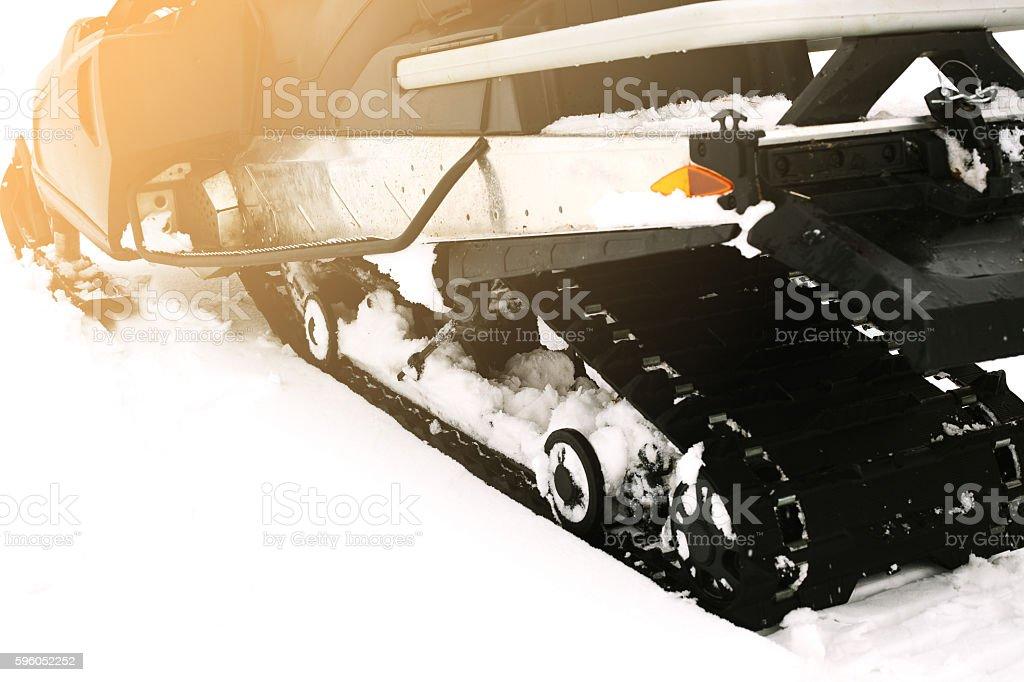 Conceptual image. Snowmobile. stock photo
