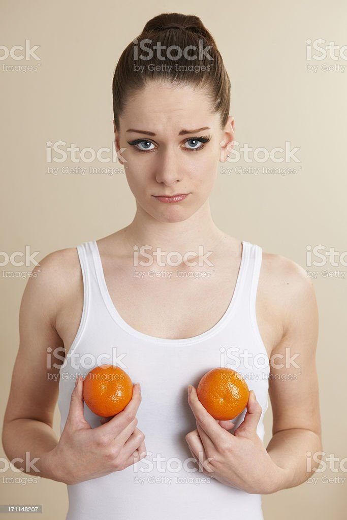 Conceptual Image To Illustrate Breast Enlargement Surgery stock photo