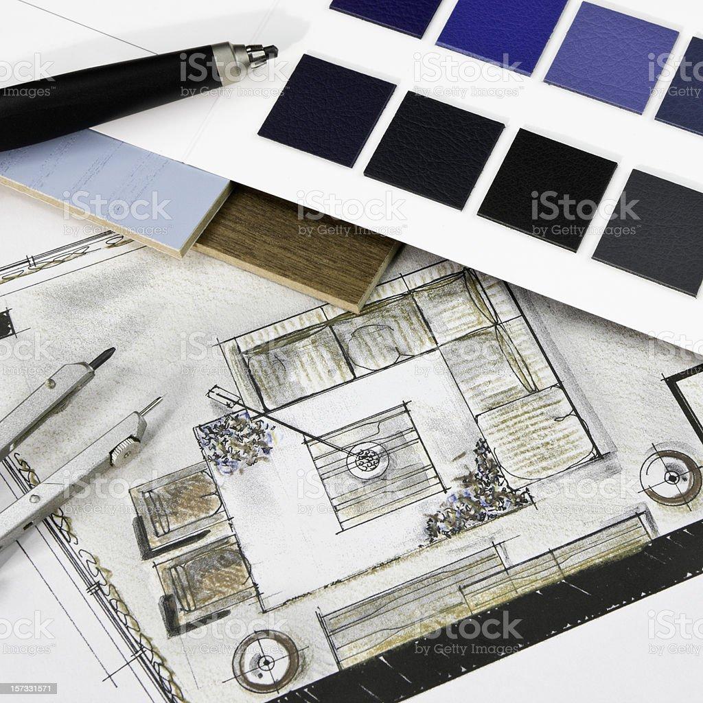 Conceptual Interior Design royalty-free stock photo