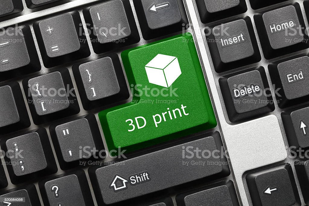 Conceptual Keyboard 3d Print Stock Photo More Pictures Of