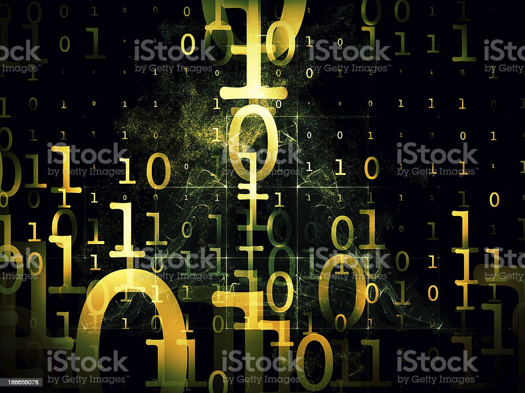 Conceptual Numbers stock photo