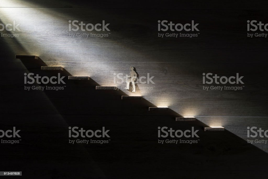 Conceptual of hope and belief stock photo