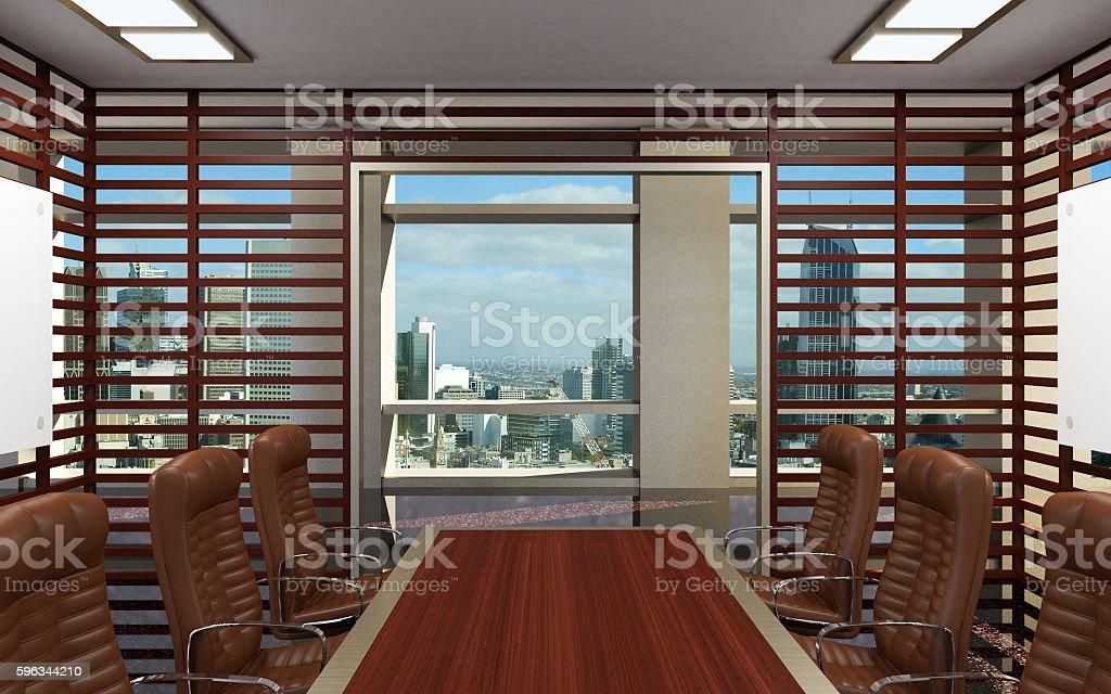 Conceptual offices. Office array. 3d rendering. Lizenzfreies stock-foto