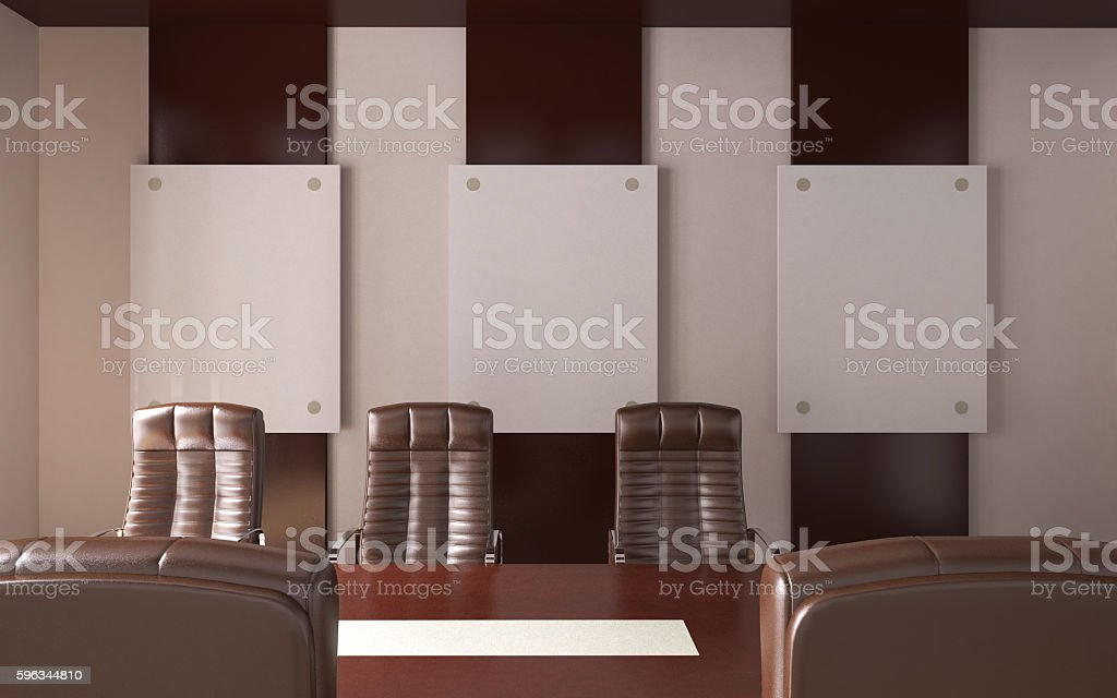 Conceptual offices. Office array. 3d rendering. royalty-free stock photo