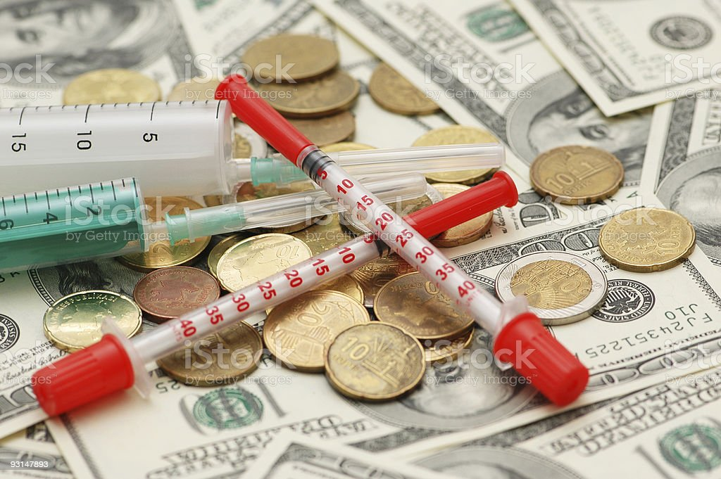 Conceptual photo illustrating expensive drugs and medicines royalty-free stock photo