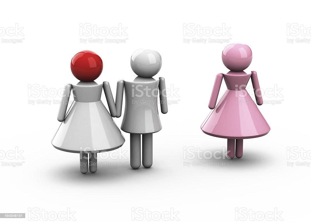 Conceptual photo of a marital infidelity royalty-free stock photo