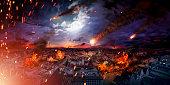 Conceptual photo of the scary apocalypse
