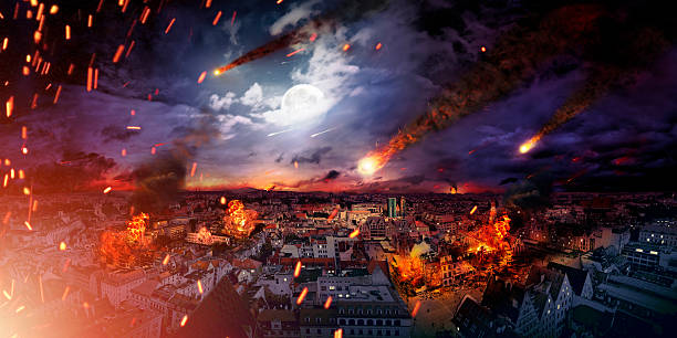 conceptual photo of the apocalypse - apocalypse stock photos and pictures