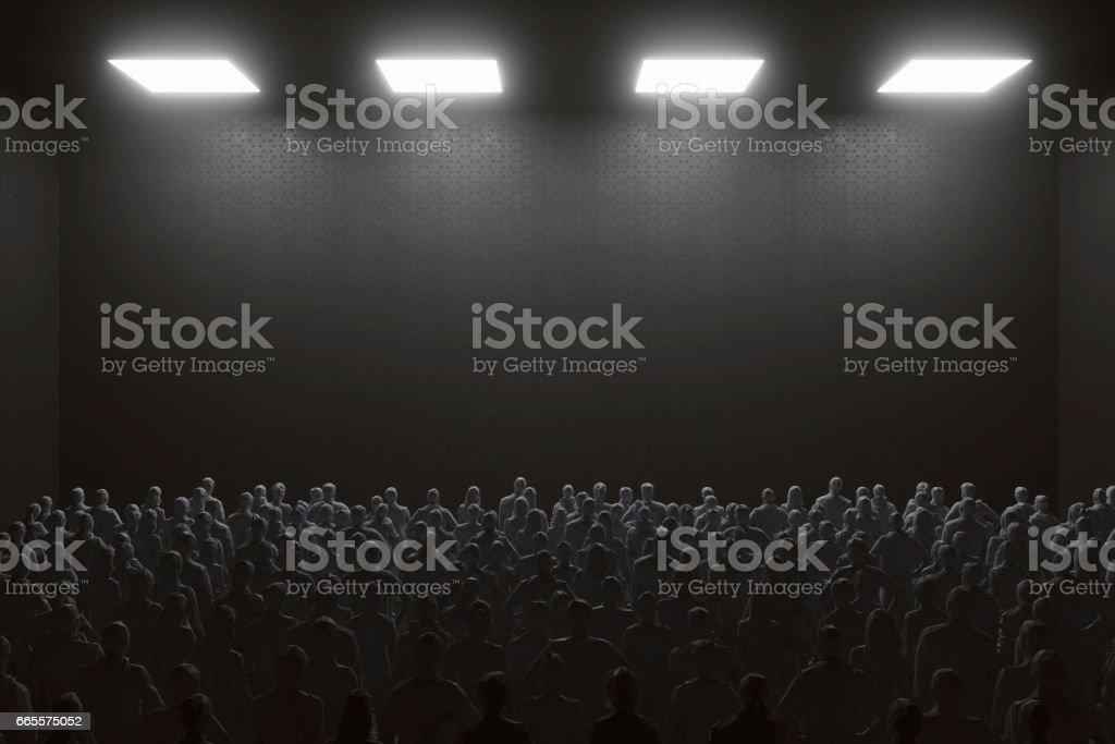 Conceptual political rally image stock photo