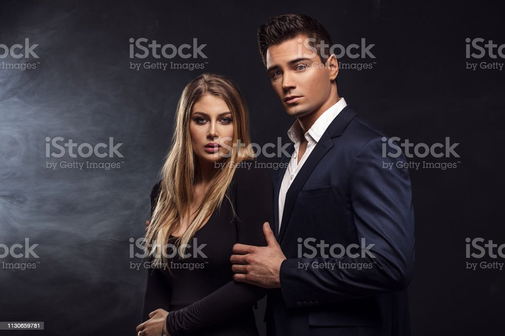 Conceptual portrait of an elegant couple.