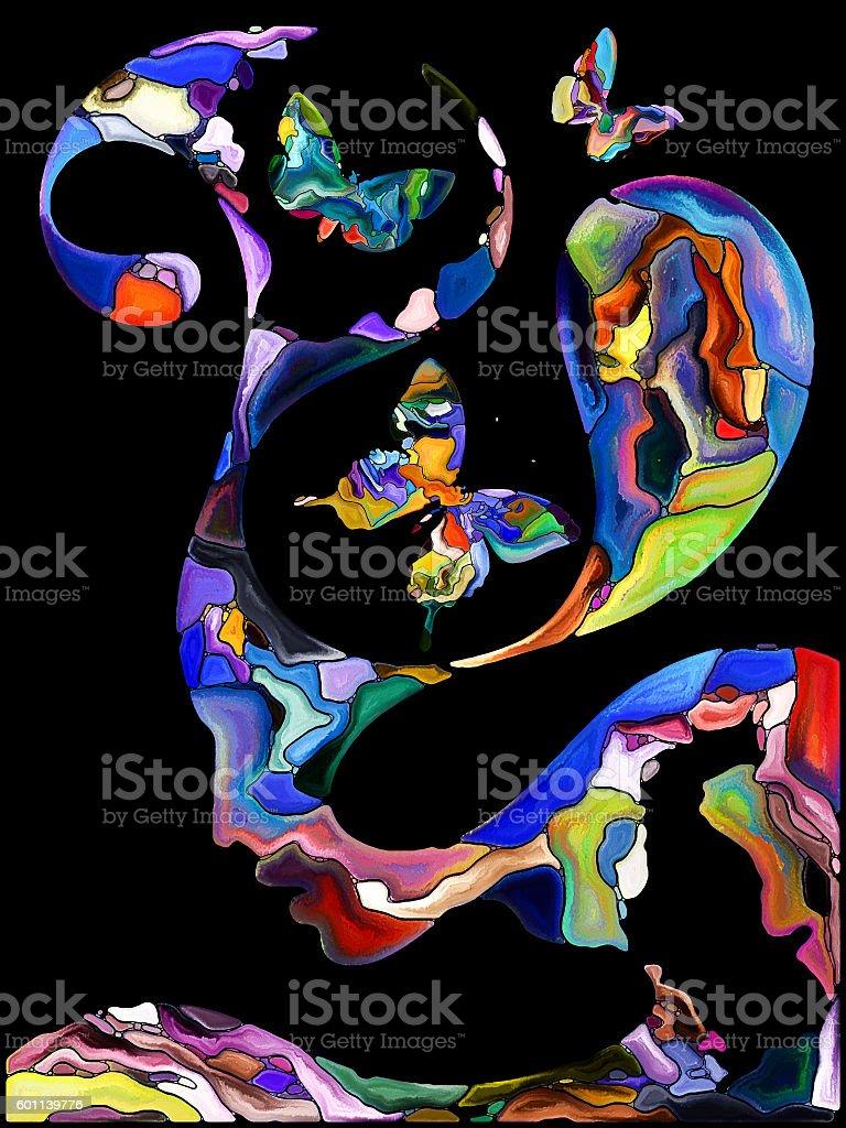 Conceptual Self Fragmentation stock photo