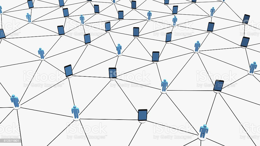Conceptual social network. stock photo