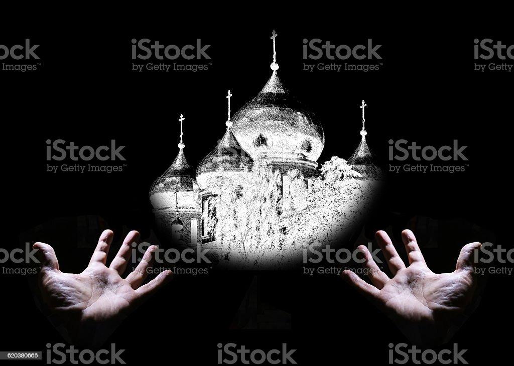 Conceptual view of christianity zbiór zdjęć royalty-free