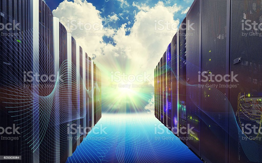 Conceptual vision of Datacenter on cloud Computing - Photo