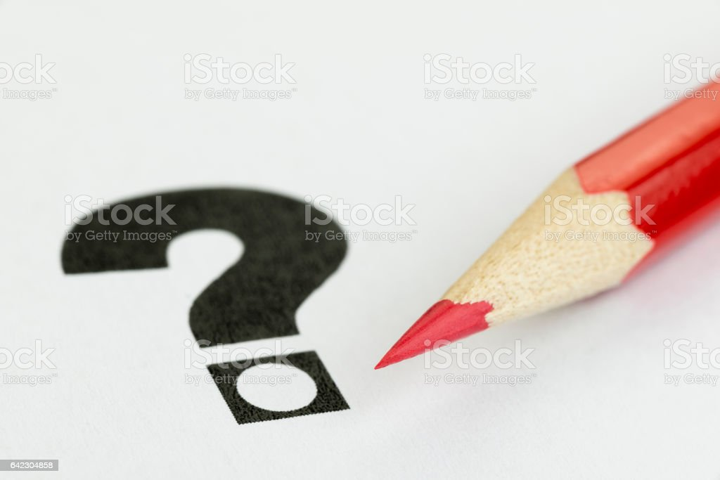 Conceptual visualization of doubt at voices stock photo