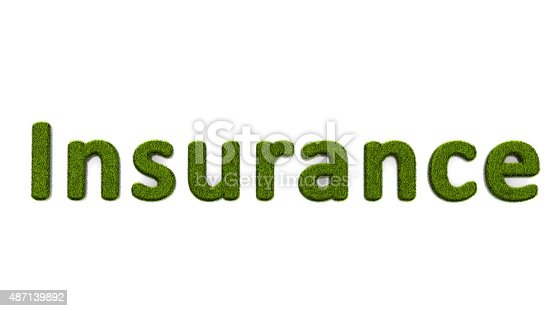 istock conceptual word insurance covered of grass isolated on white background 487139892