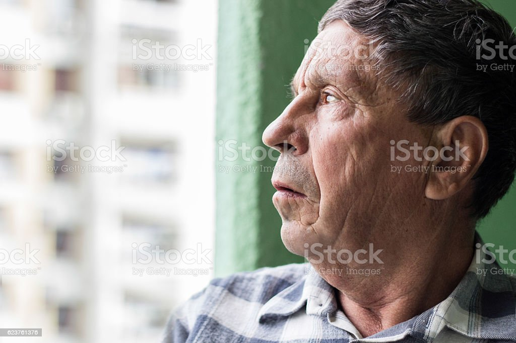 Concerned about his Future stock photo