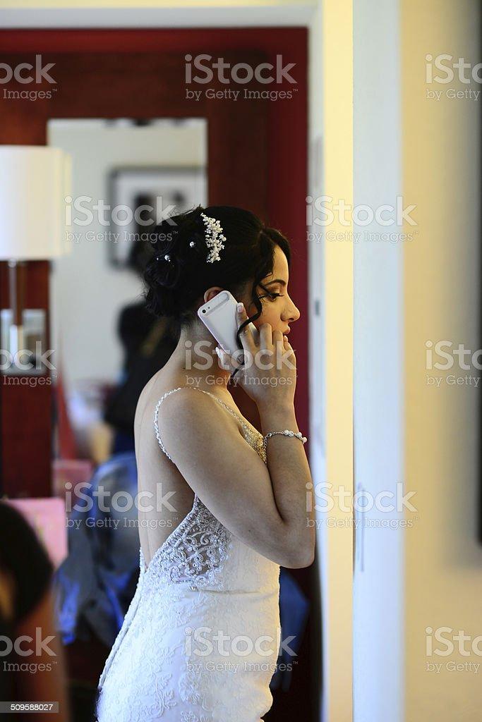 Concerned Bride stock photo