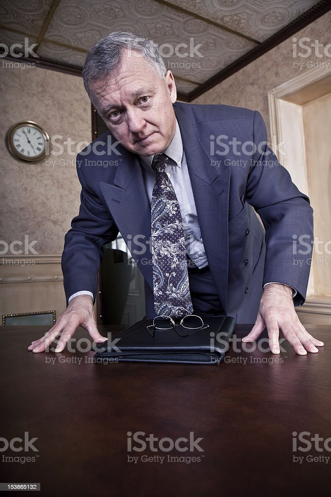 Concerned CEO stock photo