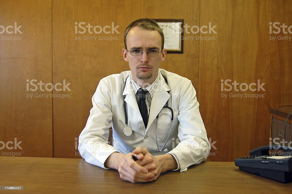 Concerned Doctor royalty-free stock photo