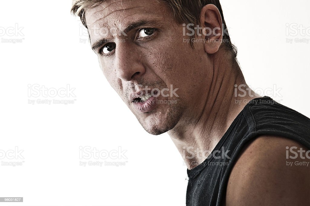 concerned man a little bit aggressive royalty-free stock photo